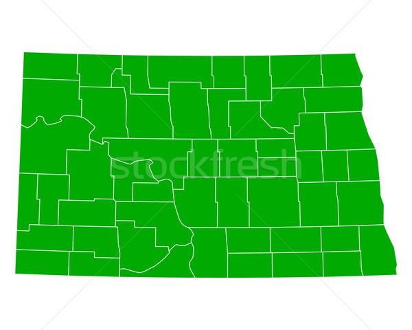 карта Северная Дакота фон зеленый линия США Сток-фото © rbiedermann