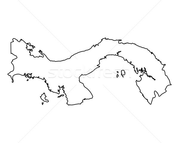 Harita Panama yalıtılmış örnek Stok fotoğraf © rbiedermann