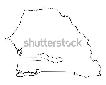 Térkép Szenegál háttér izolált illusztráció Stock fotó © rbiedermann