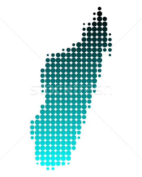 Carte Madagascar vert bleu île modèle Photo stock © rbiedermann