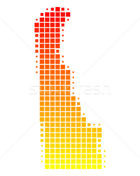 Mapa Delaware padrão américa EUA praça Foto stock © rbiedermann