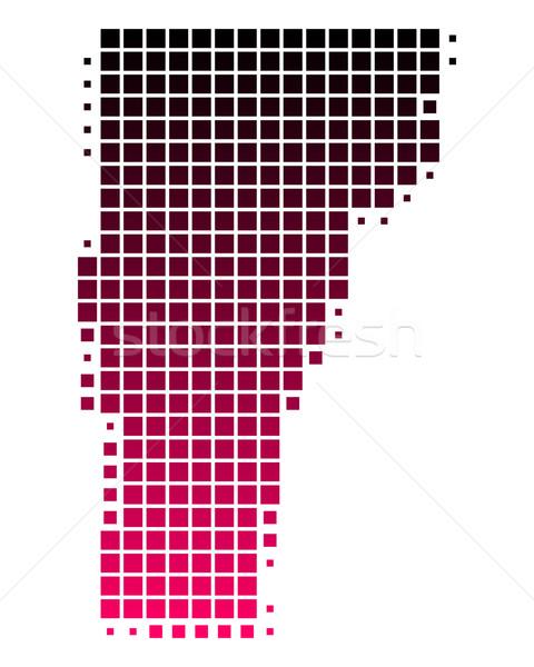 Mapa Vermont padrão rosa américa roxo Foto stock © rbiedermann