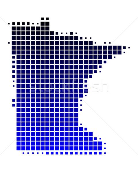 карта Миннесота синий шаблон Америки квадратный Сток-фото © rbiedermann