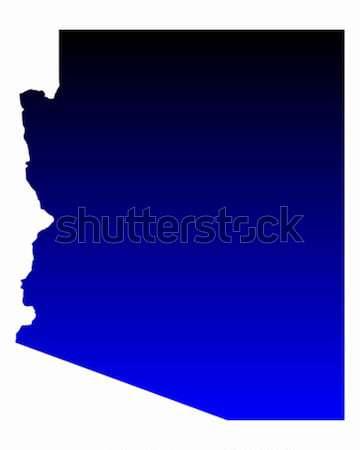 карта Аризона зеленый синий путешествия Америки Сток-фото © rbiedermann