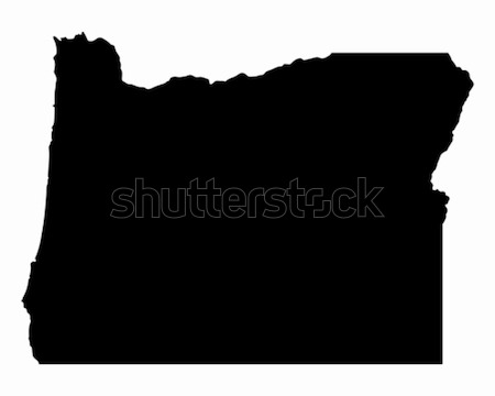 карта Орегон путешествия черный Америки США Сток-фото © rbiedermann