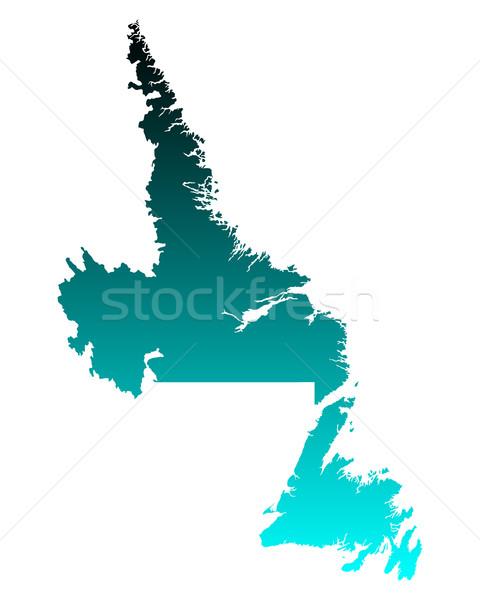 Map of Newfoundland and Labrador Stock photo © rbiedermann