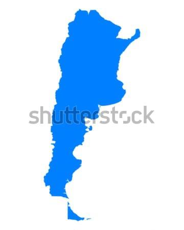 Térkép Argentína kék utazás vektor Stock fotó © rbiedermann