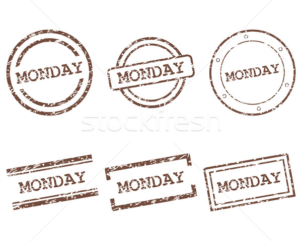 Monday stamps Stock photo © rbiedermann