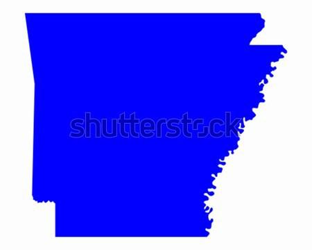 Mappa Louisiana blu viaggio america USA Foto d'archivio © rbiedermann