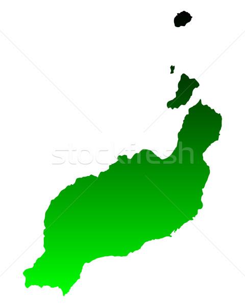 карта зеленый вектора Испания изолированный иллюстрация Сток-фото © rbiedermann