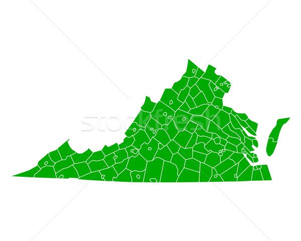 Stock fotó: Térkép · Virginia · háttér · zöld · vonal · vektor