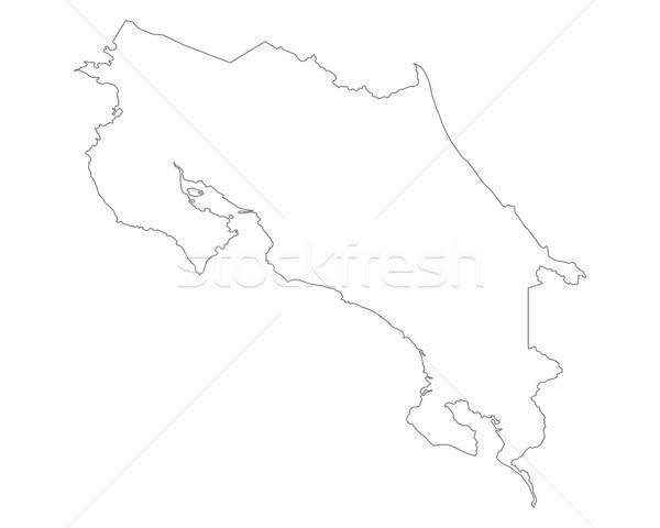 Mapa Costa Rica fondo aislado ilustración Foto stock © rbiedermann