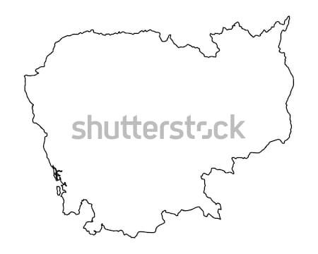 Kaart Cambodja achtergrond geïsoleerd illustratie Stockfoto © rbiedermann