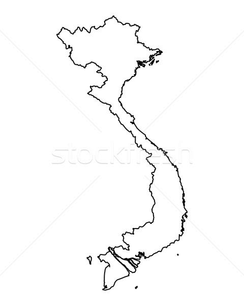 Carte Viêt-Nam fond isolé illustration Photo stock © rbiedermann