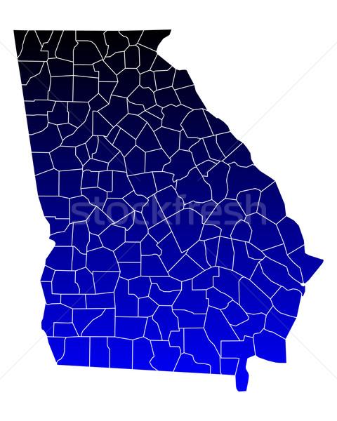 карта Грузия синий путешествия США изолированный Сток-фото © rbiedermann