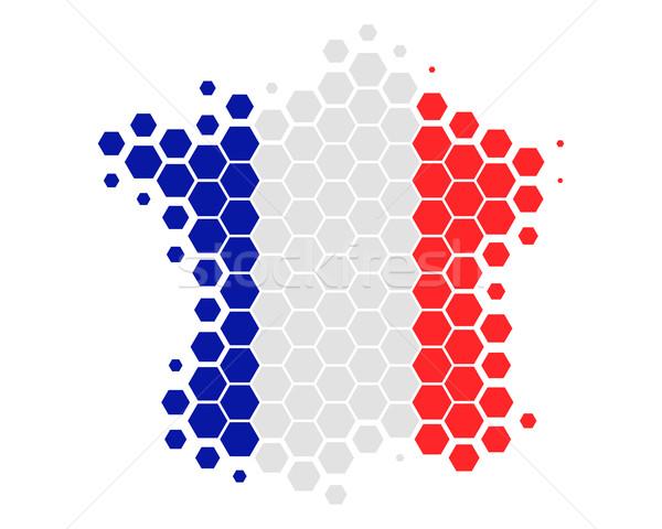 地図 フラグ フランス サッカー 背景 赤 ストックフォト © rbiedermann