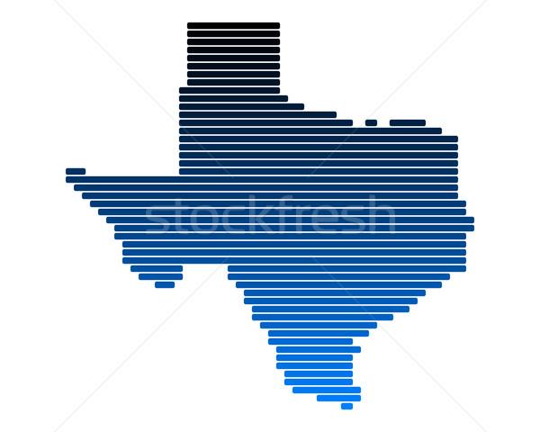 地図 テキサス州 青 行 アメリカ 行 ストックフォト © rbiedermann