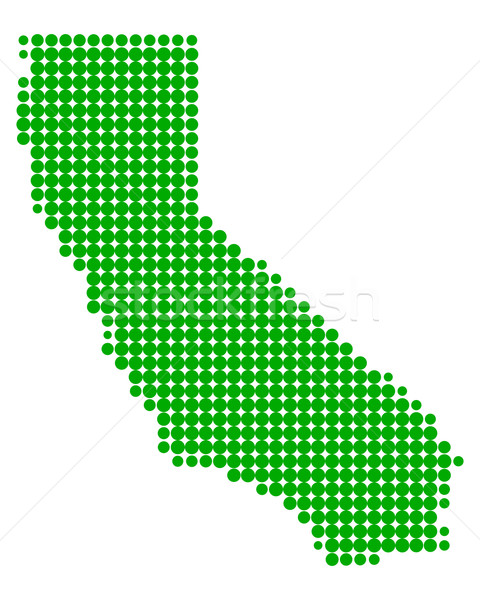 Map of California Stock photo © rbiedermann