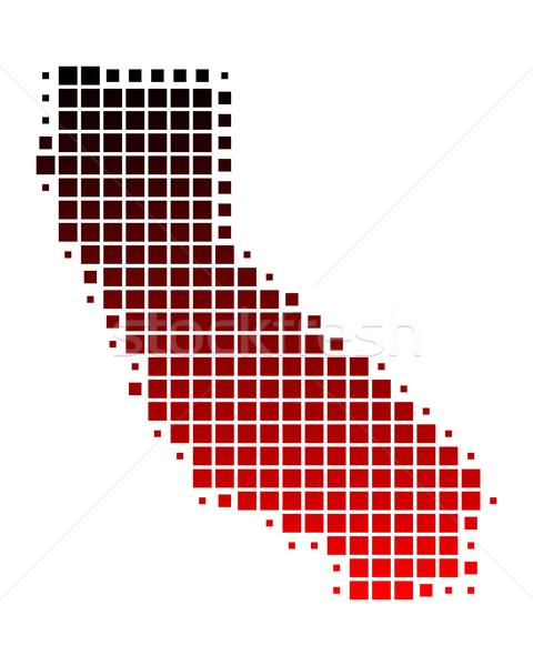 Map of California Stock photo © rbiedermann