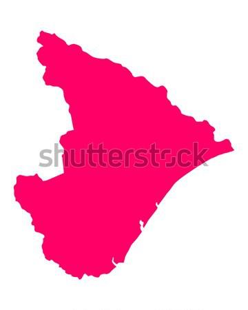 Mapa Eslovenia viaje púrpura vector Foto stock © rbiedermann