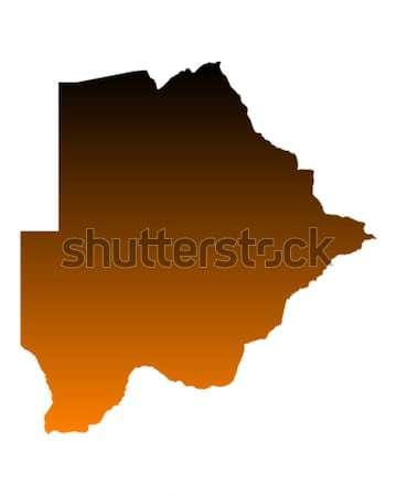 Pokaż Botswana wektora odizolowany ilustracja Zdjęcia stock © rbiedermann
