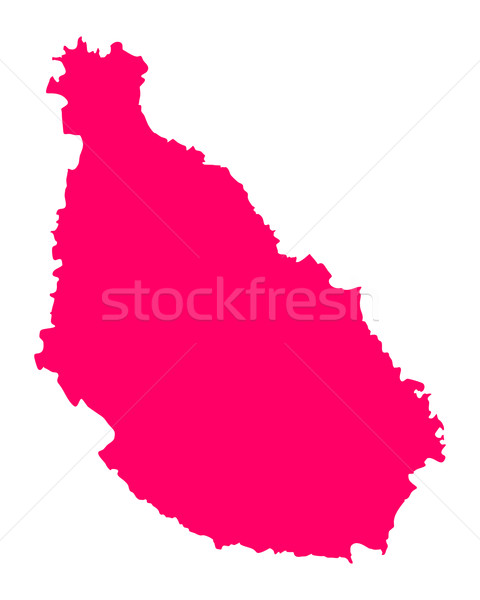 Mapa Santiago púrpura vector aislado ilustración Foto stock © rbiedermann