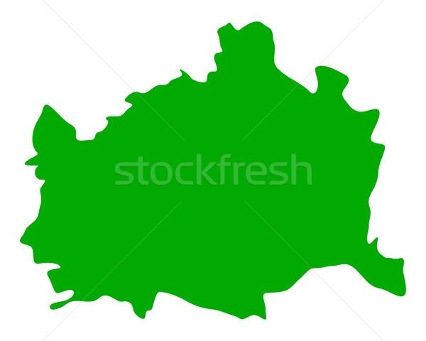 Mapa Viena verde vetor isolado ilustração Foto stock © rbiedermann