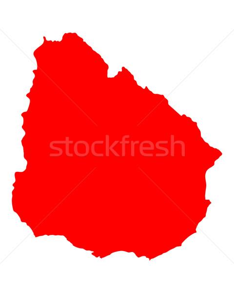 Térkép Uruguay piros vektor izolált Stock fotó © rbiedermann