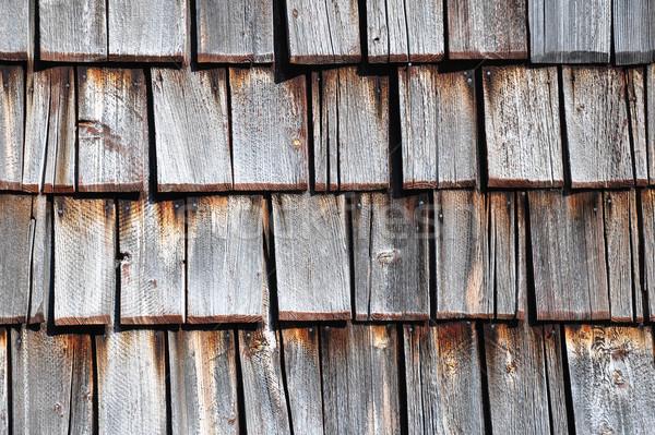 Wooden shingles Stock photo © rbiedermann