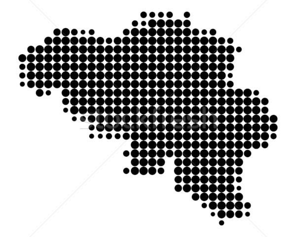Harita Belçika dünya deniz seyahat siyah Stok fotoğraf © rbiedermann