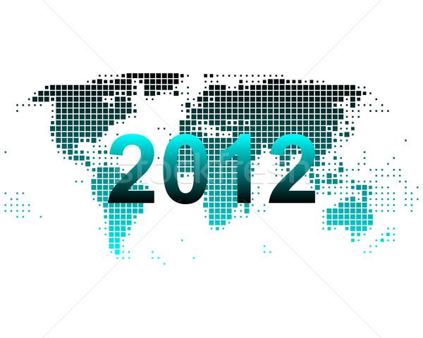 Mapie świata 2012 Pokaż świat tle ziemi Zdjęcia stock © rbiedermann