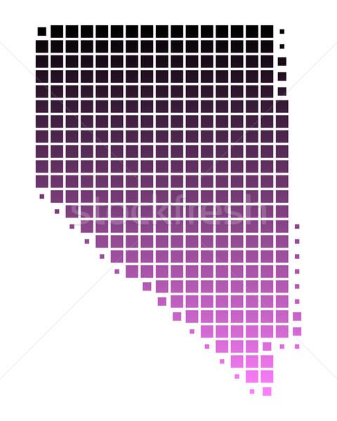 Kaart Nevada patroon roze amerika vierkante Stockfoto © rbiedermann