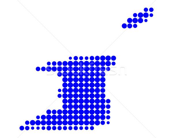 карта синий острове шаблон круга Карибы Сток-фото © rbiedermann