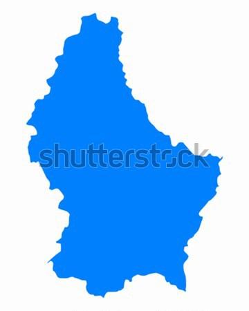Kaart Luxemburg Blauw reizen vector Stockfoto © rbiedermann