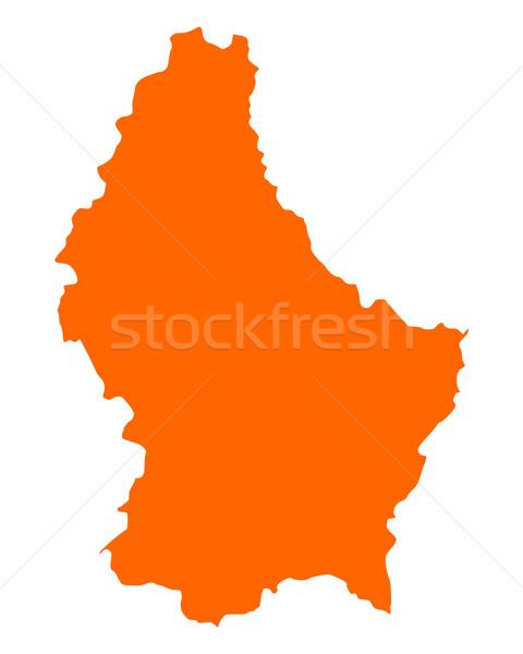 Kaart Luxemburg reizen vector Stockfoto © rbiedermann