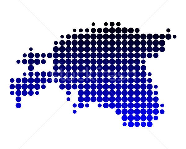 карта Эстония шаблон круга точки иллюстрация Сток-фото © rbiedermann
