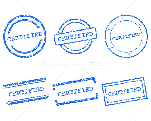 Certifié timbres design lettre tampon tag Photo stock © rbiedermann