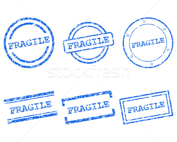Fragile stamps Stock photo © rbiedermann