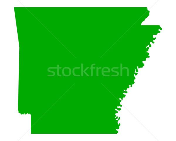 Térkép Arkansas zöld utazás Amerika USA Stock fotó © rbiedermann