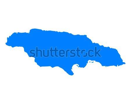 Mapa sicília azul ilha vetor isolado Foto stock © rbiedermann