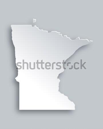Térkép Minnesota papír háttér utazás kártya Stock fotó © rbiedermann