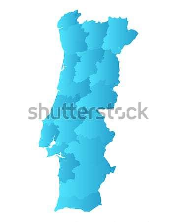 Mapa Portugal fundo linha vetor ilustração Foto stock © rbiedermann
