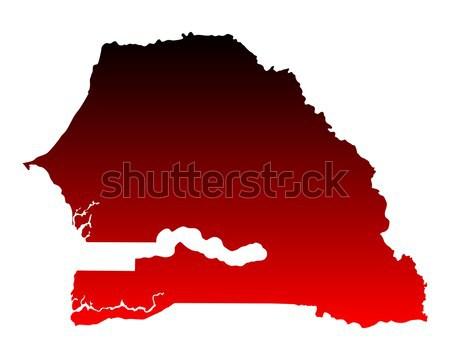 地図 セネガル 旅行 赤 ベクトル ストックフォト © rbiedermann