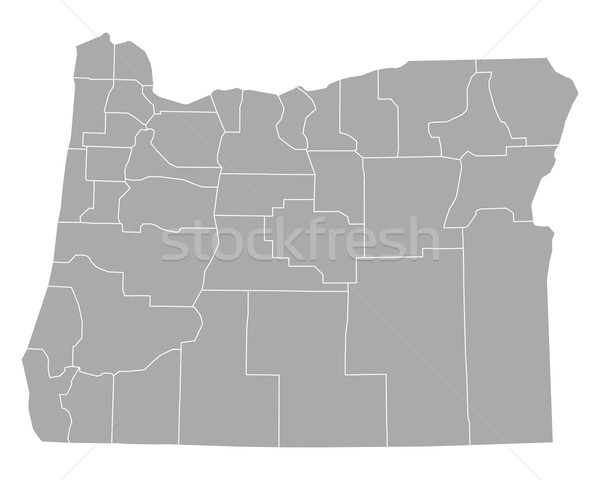 Kaart Oregon achtergrond lijn vector illustratie Stockfoto © rbiedermann
