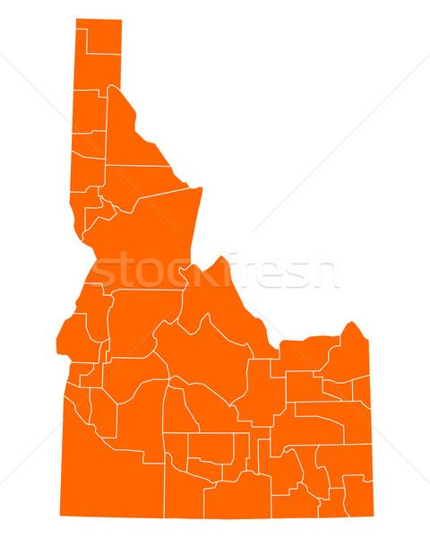 Kaart Idaho reizen USA geïsoleerd illustratie Stockfoto © rbiedermann