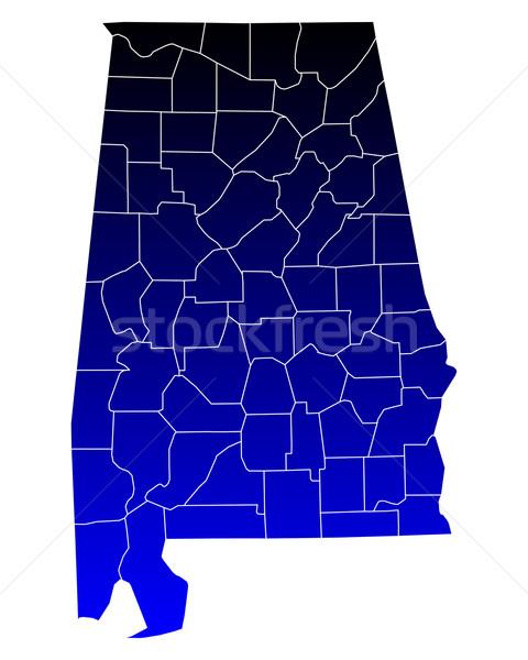 Harita Alabama mavi seyahat ABD yalıtılmış Stok fotoğraf © rbiedermann