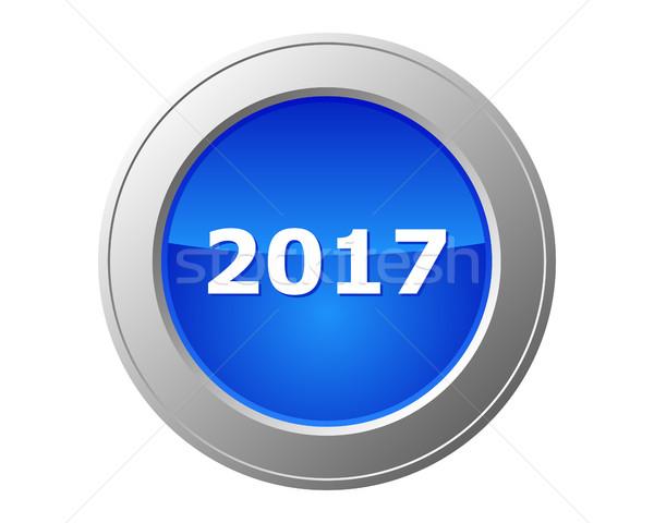 2017 button Stock photo © rbiedermann