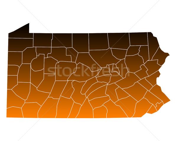 Mappa USA vettore isolato illustrazione rosolare Foto d'archivio © rbiedermann