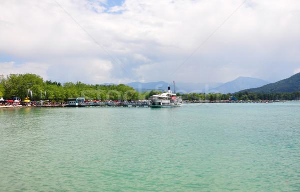 озеро Австрия синий лодка Европа паруса Сток-фото © rbiedermann