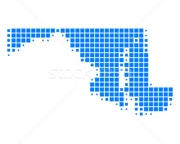 Harita Maryland mavi model Amerika ABD Stok fotoğraf © rbiedermann
